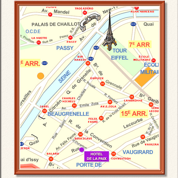 Hotel de la paix rue duranton 75015 paris metro for Location hotel a paris